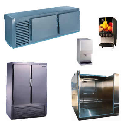 beverage dispensers, ice makers, refrigeration
