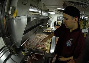 Grilling Steaks Onboard